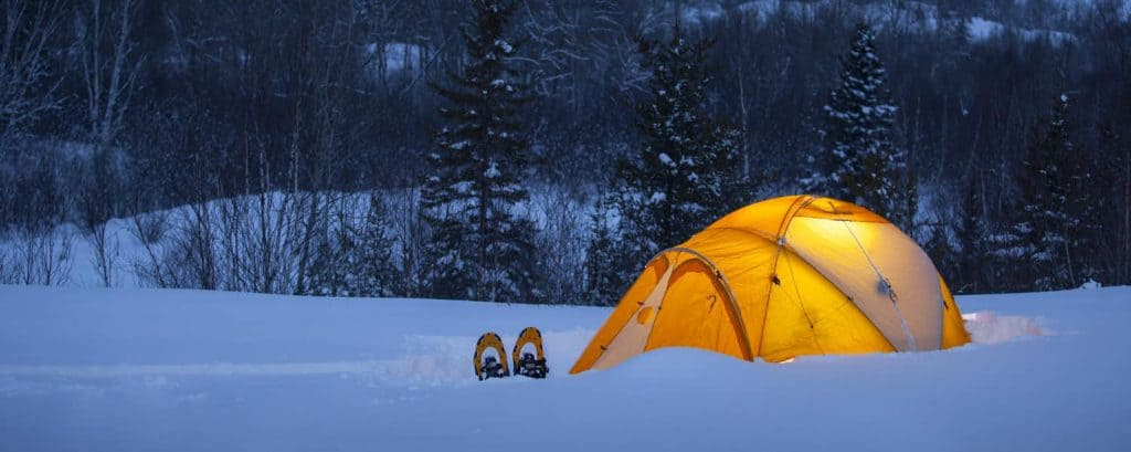 Survive camping in a tent in winter